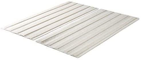 Zinus Annemarie Solid Wood Bed Support Slats   Fabric Covered   Bunkie Board  Queen