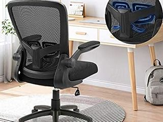 Office Chair  ZlHECTO Ergonomic Desk Chair with Adjustable Height and lumbar Support  High Back Mesh Computer Chair with Flip up Armrests for Conference Room   300lb Weight Capacity