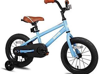 JOYSTAR Totem Kids Bike with Training Wheels for 12 14 16 18 inch Bike  Kickstand for 18 inch Bike  Blue Ivory Red Orange Pink Green    MISSING 1 TRAINING WHEEl
