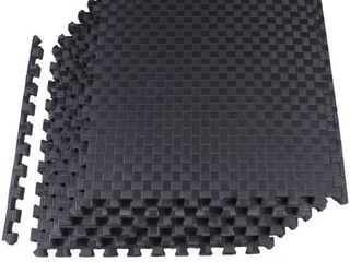 BalanceFrom 1  EXTRA Thick Puzzle Exercise Mat with EVA Foam Interlocking Tiles for MMA  Exercise  Gymnastics and Home Gym Protective Flooring  24 Square Feet