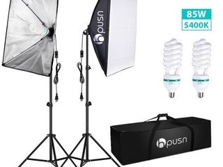 Hpusn SB02 Softbox lighting Kit  2 Packs  for Professional Photography   Home Studio Continuous