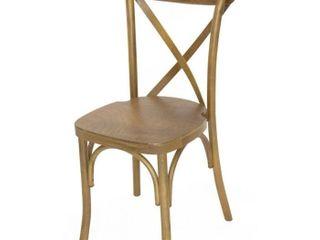 Oak Cross Back Chair   Fruitwood