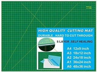 Worklion 36  x 48  Self Healing Cutting Mat  Double Sided 5 Ply Non Slip   Professional for Scrapbooking   Quilting   Sewing   Arts   Crafts Project  Green