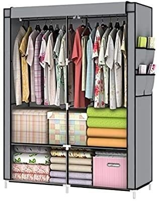 YOUUD Closet Portable Closet Organizer Portable Wardrobe Closet Clothes Closet Portable Closet Wardrobe Closet Organizer Closet Clothes Portable Clothes Closet Clothes Storage Organizer Gray