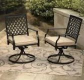Style Selections Elliot Creek Set Of 2 Metal Cushioned Conversation Motion Chair