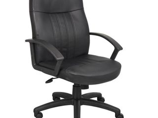 Executive leather Budget Chair Black   Boss Office Products