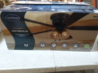 Harbor Breeze Centreville 52  Oil Rubbed Bronze led Ceiling Fan With light