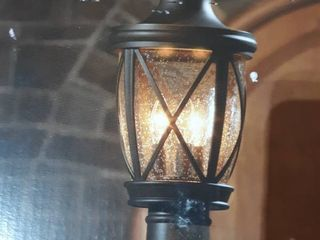 Allen   Roth Castine Post lantern Aged Bronze Finish