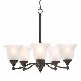 Portfolio Roseall 5 light Oil Rubbed Bronze Chandelier