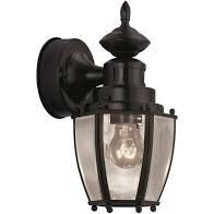 Black Motion Activated Outdoor Wall light  Portfolio 11 75 in H RETAIl  49 97