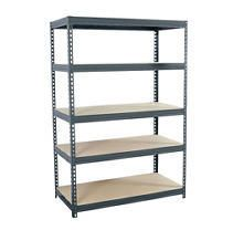edsal 72 in H x 48 in W x 24 in D 5 Tier Steel Freestanding Shelving Unit RETAIl  109 00