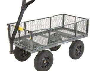 Gorilla Carts 7002865 1000 lbs Capacity Steel Utility Cart RETAIl  149 00