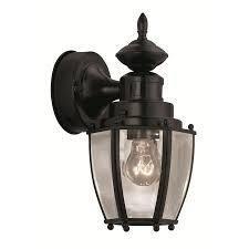 Portfolio 11 75 in H Black Medium Base  E 26  Outdoor Wall light retail  49 97