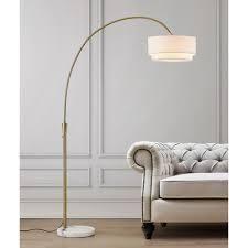 carson Carrington flam 81 inch arch floor lamp dark bronze