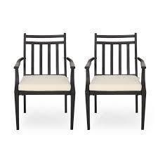 delmar dining chairs set of 2 black and beige