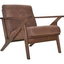 imac decor zola lounge chair brown and walnut