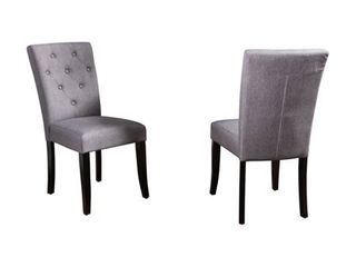 Nyomi Fabric Dining Chair  Set of 2  by Christopher Knight Home  Retail 163 49 grey