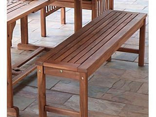 Acacia Wood Patio Bench only Brown