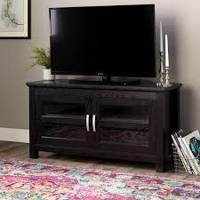 macaulay 44 inch black finish 2 door wood tv cansole