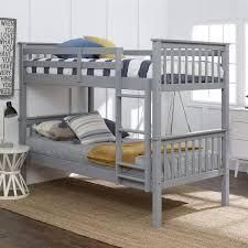 live outside the box junior twin twin wood buck bed grey