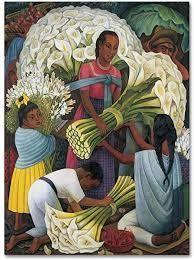 diego rivera the flower vender canvas