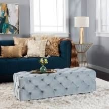 Piper Tufted Velvet Rectangle Ottoman Bench by Christopher Knight Home  Retail 207 99 grey