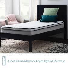 Taylor   Olive 8  Memory Foam Hybrid Mattress  Retail 195 99 full