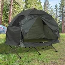 outsunny 1 person compact pop up portable canopy green