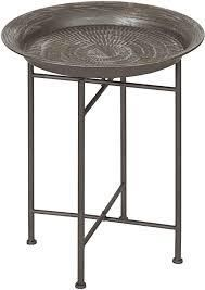 kate and laurel mandavi hammered metal table small dent