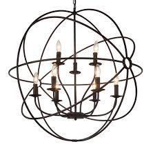 cwilighting the Gray barn ashgrove 9 light globe chandelier brown