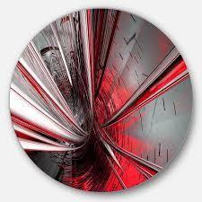 Designart  Fractal 3D Deep into Middle  Abstract Art Circle Metal Wall Art  Retail 99 99