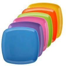 melange melanie square collection of 6 pc salad plates multicolor