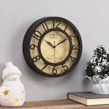 FirsTime   Co  Raised Number Wall Clock  American Crafted  Oil Rubbed Bronze  Plastic  8 x 2 x 8 in   8 x 2 x 8 in