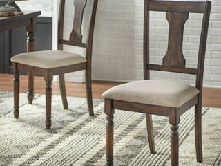 simple living burntwood dining chairs set of 2 Rustic Brown  Retail 170 49