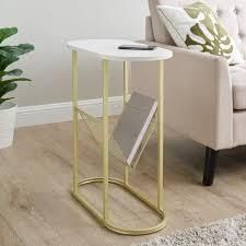 Silver Orchid Oblong Magazine Rack Side Table  Retail 103 99 gold