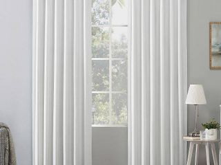 96 x50  Amherst Velvet Noise Reducing Thermal Back Tab Extreme Blackout Curtain Panels Pearl   Sun Zero