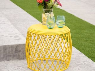 Alamera Outdoor 19 inch lattice Side Table by Christopher Knight Home  Retail 92 99