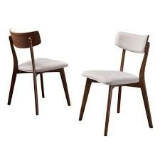 Chazz Mid century Dining Chair by Christopher Knight Home  Set of 2  Retail 138 31