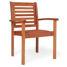 tottenville eucalyptus wood stackable chair