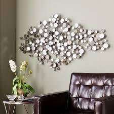 Olivia Mirrored Metal Wall Sculpture  Retail 128 99