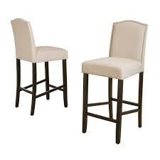 logan 30 inch Fabric Backed Barstool by Christopher Knight Home  Set of 2  Retail 219 99