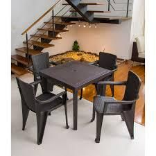 MQ INFINITY Espresso 5 Piece Patio Dining Set  Retail 171 49