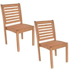 Tottenville Eucalyptus Wood Stackable Side Chairs  Set of 2  by Havenside Home  Retail 298 88
