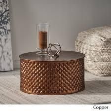 Filbert Modern Aluminum Coffee Table by Christopher Knight Home  Retail 156 99 copper