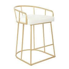 osp home furnishings mid century luna bar chair gold and white