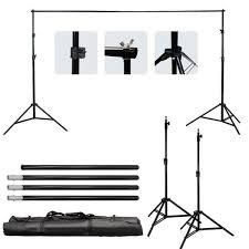 10Ft Adjustable Photography Video Background Support Stand Kit w Carry Bag black