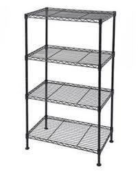 4 tier wire rack black 50x30xh80