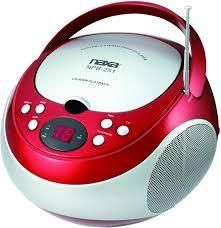 naxa Portable CD Player with AM FM Stereo Radio red