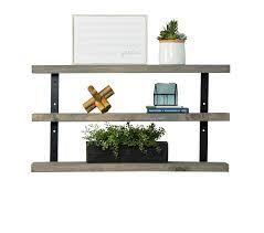 Del Hutson Designs Industrial Grace Three Tier Floating Shelves  Retail 83 49 grey