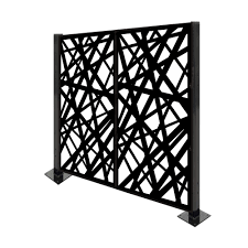 highland homes laser cut metal privacy fence